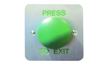Asec 1 Gang Press to Exit Green Dome Large Momentary