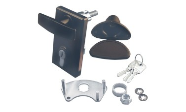 GARADOR GAR0130 75mm Euro Locking Garage Door Handle