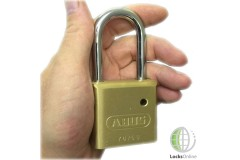 Abus Hardened Steel Shackle Brass Body Padlock