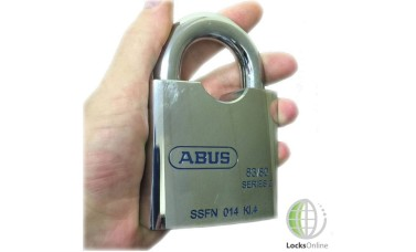 Abus 80mm Hardened Steel Open Shackle Padlock