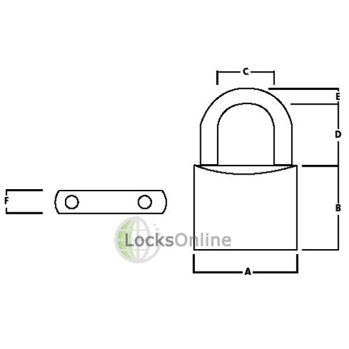 Union 3104 Brass Body Padlock