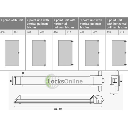 Exidor 400 Touch Bar Deadlocking Latch