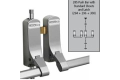 Exidor 285SD Push Bar for Rebated Double Doors to suit Steel Doors