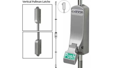 Exidor 310 Push Pad Single Panic Bolt with Vertical Catches