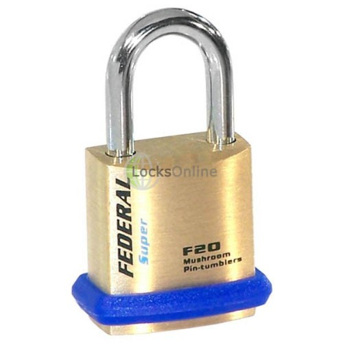 Main photo of Federal 20F Solid Brass Padlock