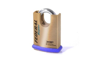 Federal Super Security Solid Brass Close Shackle Padlocks