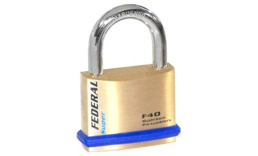 Federal 40F Solid Brass Padlocks