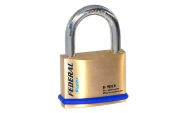 Federal 50F Solid Brass Padlocks