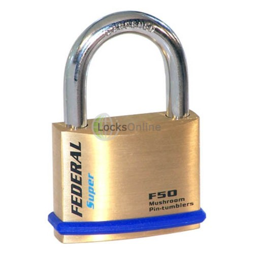 Main photo of Federal 50F Solid Brass Padlocks