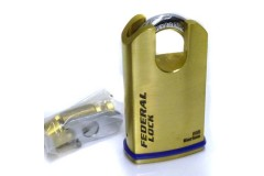 Federal 700 B Series Raised Shoulder Padlock Solid Brass