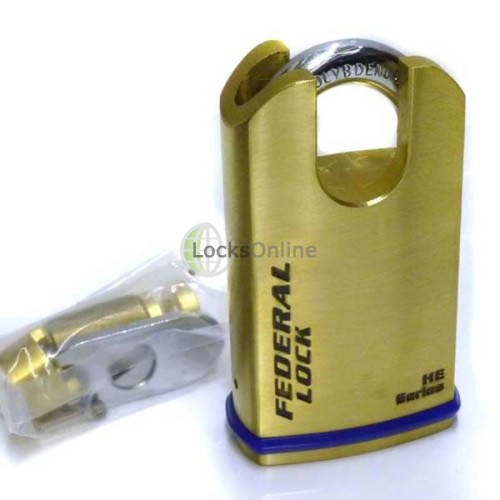 Main photo of Federal 700 B Series Raised Shoulder Padlock Solid Brass