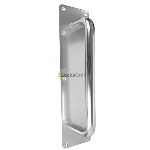 Main photo of Jedo Aluminium Pull Door Handle on Back Plate