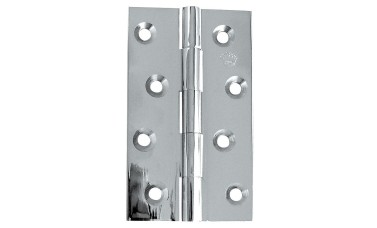 Jedo polished chrome solid drawn hinge