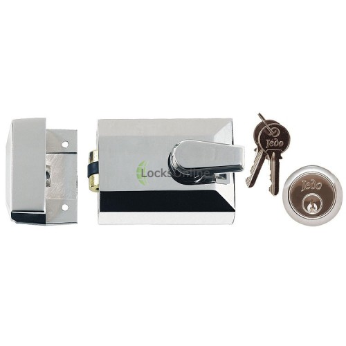 Main photo of Jedo Rollerbolt Night Latch Door Lock + Escutcheon