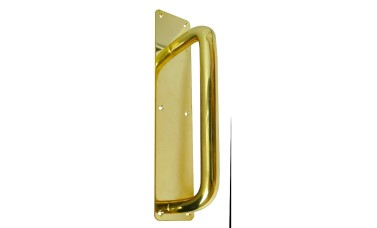 Jedo Polished Brass Pull Door Handle On Plate