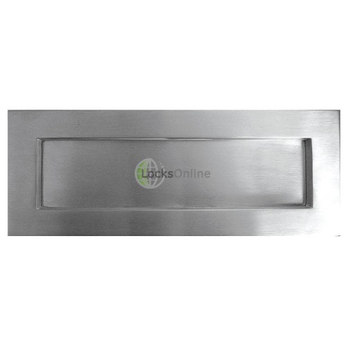 Main photo of Satin Chrome Sprung Letterplates