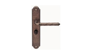 Jedo Venezia Tin Finish On Plate Bathroom Door Handle