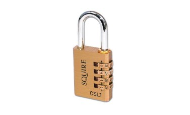 Squire 4 Wheel Brass Open Shackle Combination Padlock