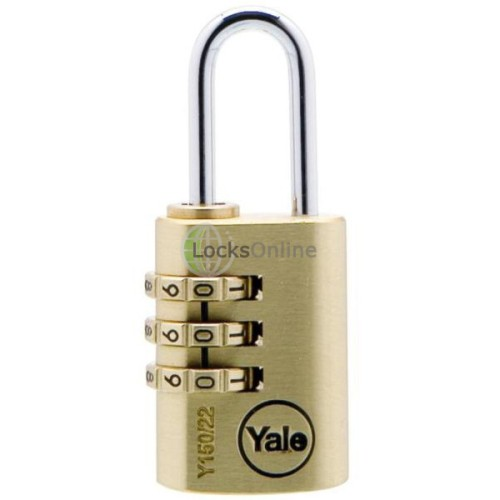 Main photo of YALE 150 Brass Open Shackle Combination Padlock