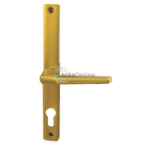 Main photo of Hoppe uPVC Handles 68mm PZ  for Fullex Locks - 235mm (215mm fixings)