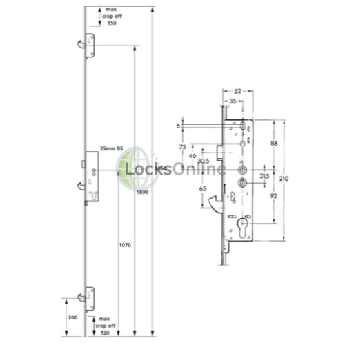 Asgard 2 Hook UPVC Door Lock