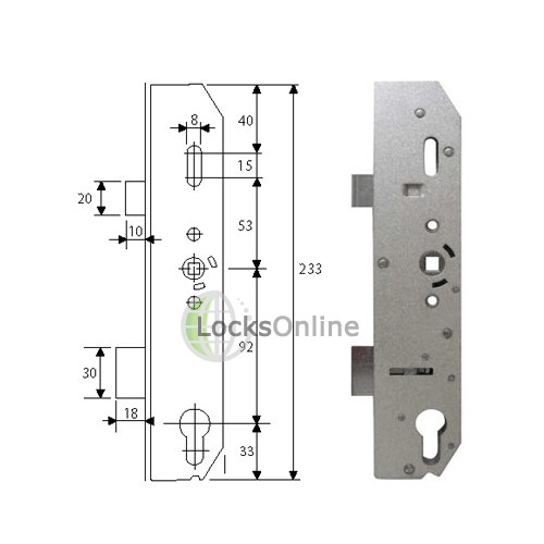 Mila Latch and Deadbolt Multipoint Gearbox