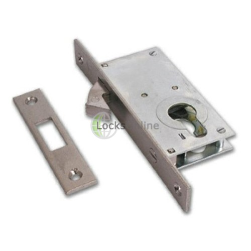 Main photo of Cisa 45110-30 Euro Cylinder Hook Bolt Sliding Door Lock