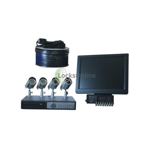 Main photo of CCTV 4 Camera DVR Kit with CD Writer