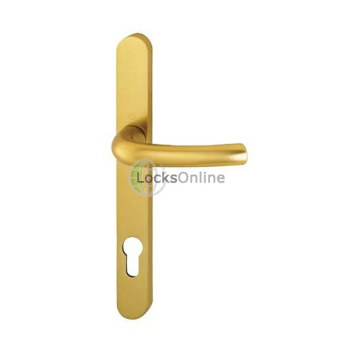 Main photo of Hoppe Offset 92/70mm PZ Lever & Pad uPVC Handles - 241mm (215mm fixings)