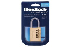 Era Wordlock Brass Sports Combination Padlock