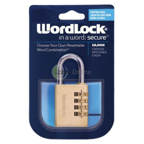 Main photo of Era Wordlock Brass Sports Combination Padlock