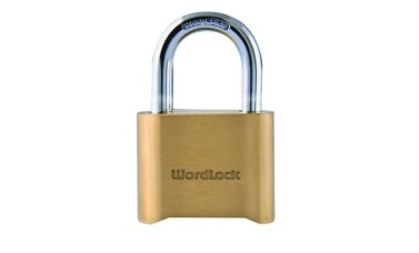 Era Wordlock Brass Combination Padlock