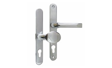 ASEC 92/62 Offset Lever & Pad UPVC Handles - 240mm (211mm fixings)