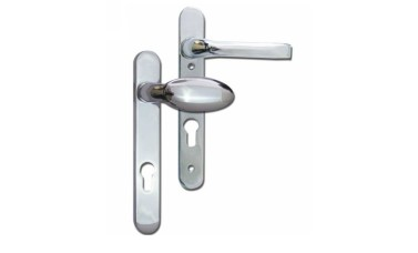 MILA Prolinea 92mm PZ Lever & Pad UPVC Handles - 220mm (122mm fixings)