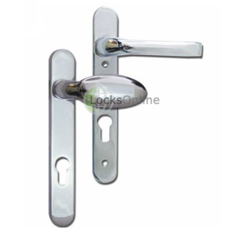 Main photo of MILA Prolinea 92mm PZ Lever & Pad UPVC Handles - 220mm (122mm fixings)