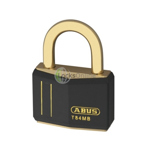 Main photo of Abus T-84 Brass Padlock and Brass Shackle - Keyed Alike - Coloured Body