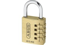 ABUS 165 Series Brass Combination Open Shackle Padlock