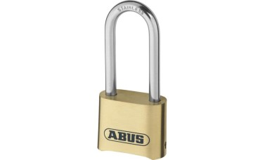 ABUS 180IB Series Brass Combination Long Stainless Steel Shackle Padlock
