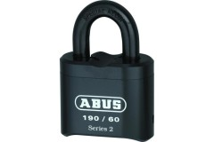 ABUS 190 Series Heavy Duty Combination Open Shackle Padlock