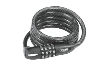 ABUS 1300 Series 8mm Recoiling Combination Cable Lock