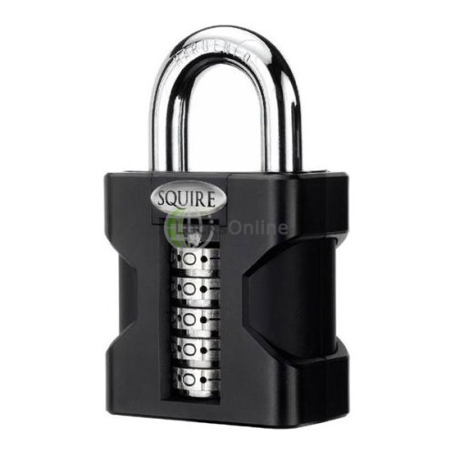 Main photo of Squire SS50 Stonghold Steel Open Shackle Recodable Combination Padlocks