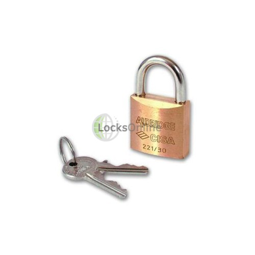 Main photo of Cisa 22110 Brass Body Padlock Keyed Alike