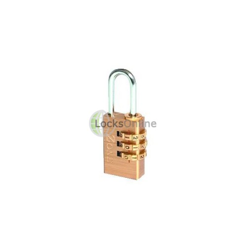 Main photo of ZONE 24 Series Brass Open Shackle Combination Padlock