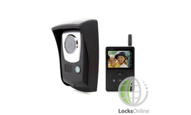 "Portable Wireless Video Door Intercom - 2.4"" Display"