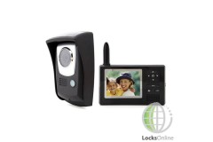 "Portable Wireless Video Door Intercom - 3.5"" Display"