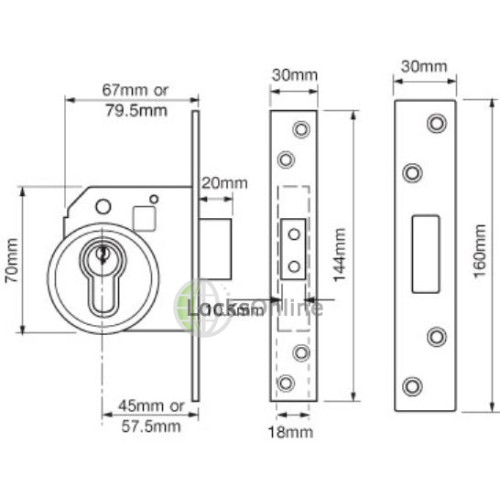 UNION BS3621 High Security Euro Cylinder Deadlock