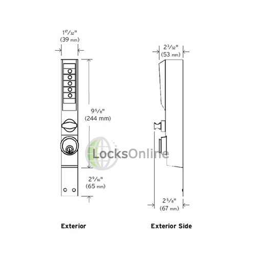 Simplex Unican 3000 Combination Lock For Aluminium Door