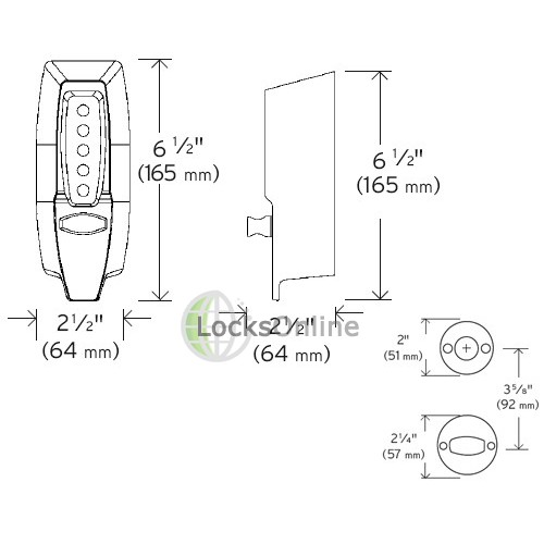 Simplex Unican 7108 Deadbolt Lock Combination