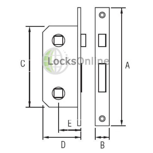 Timage Marine Anti-Rattle Mortise Lock