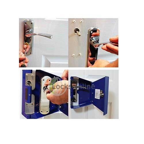 Templock Combination Blue Temporary Door Lock